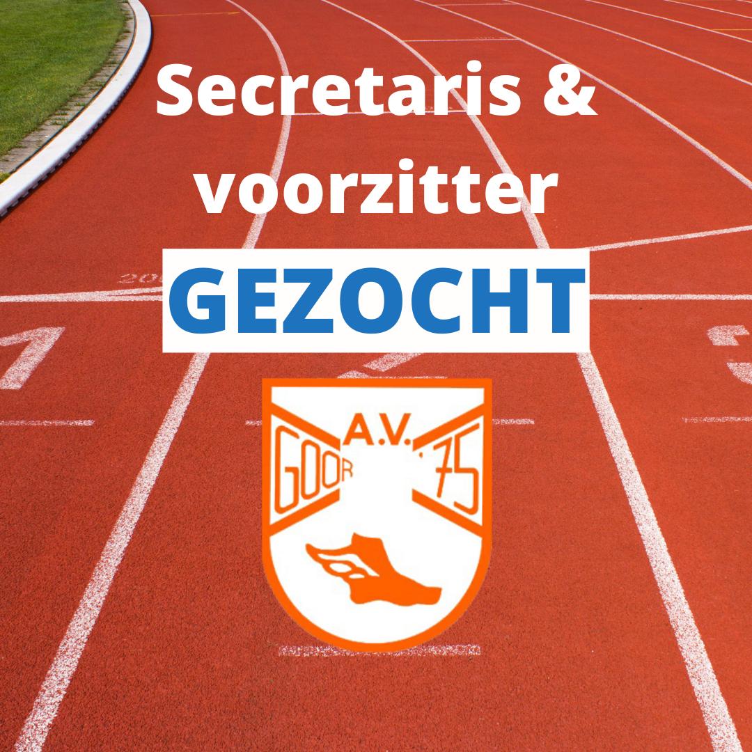 Secretaris en voorzitter gezocht AV Goor'75